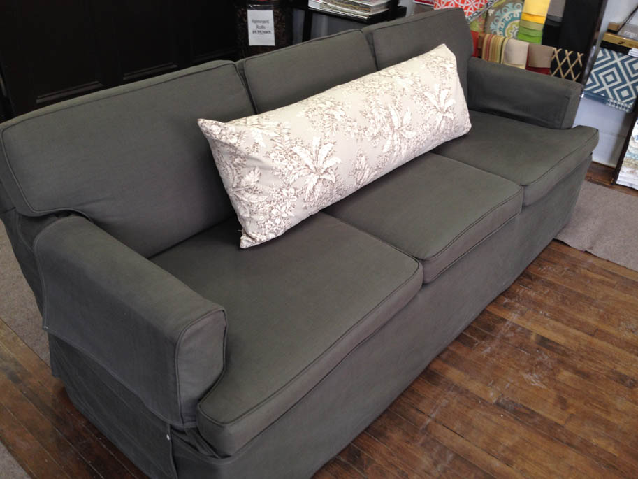 Casual Sofa Cover Self Piping Loose Seat And