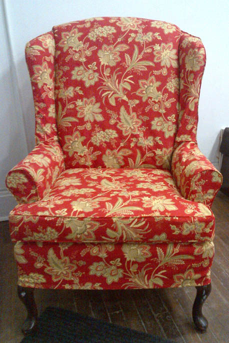 floral slipcovers for wingback chairs | Extra Examples & Ideas | Potato Skins Slipcovers Toronto