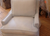custom-faux-velvet-chair-cover-self-piping-and-pleats