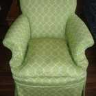 Custom Arm Chair with Self Piping and Pleats