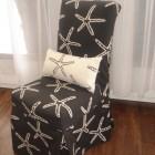 Custom Star Fish Parson Chair Cover