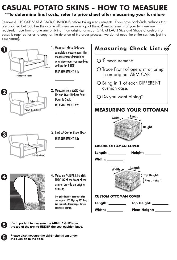 Print measurement instructions